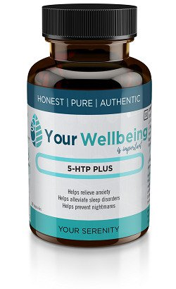 Your Wellbeing's 5-HTP plus food supplement helps with reducing anxiety and promoting sleep.