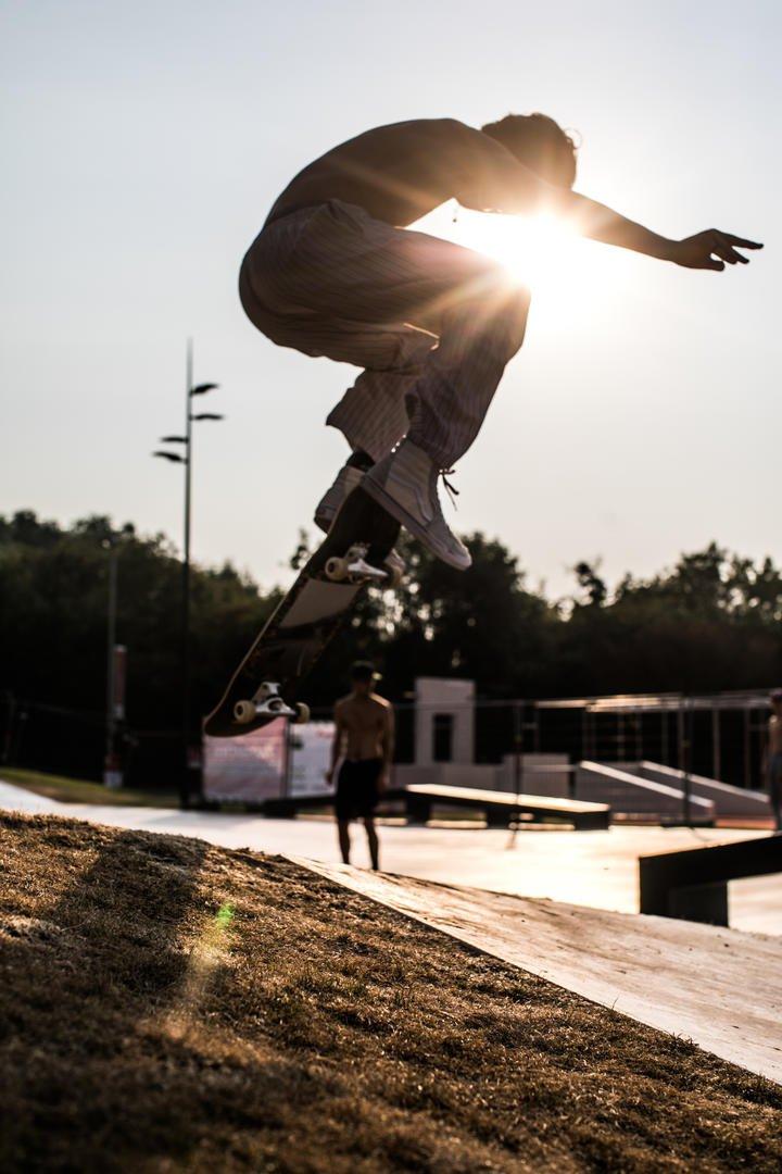 Het grootste skatepark van België in Blaarmeersen Gent