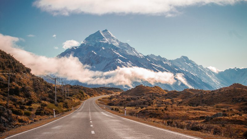 Road towards Mount Cook