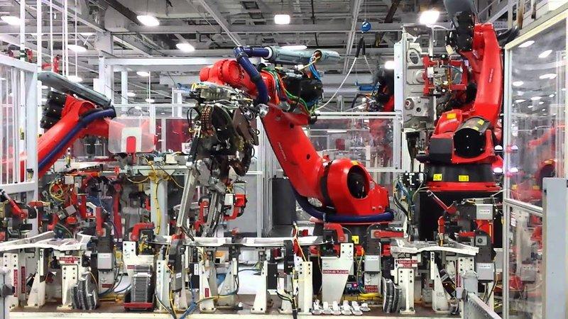 tesla bot - robot making in tesla