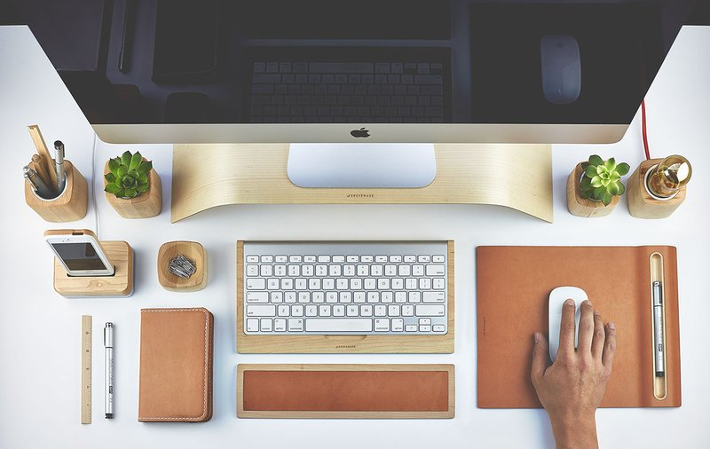 An organized workspace keeps you in the work mood