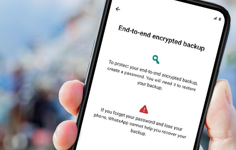 End-to-end encryption chat backup - WhatsApp