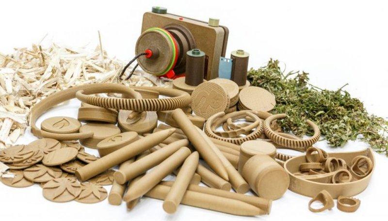 Hemp plastic materials