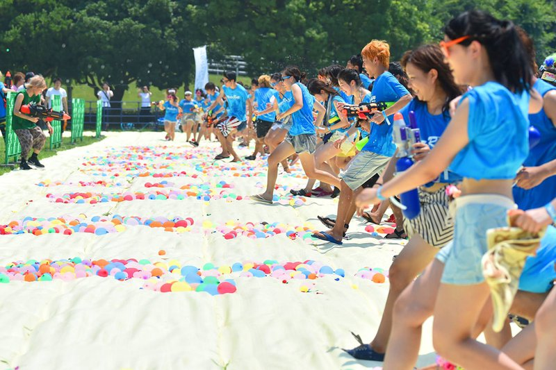 Water Fight at Water Run, Japan