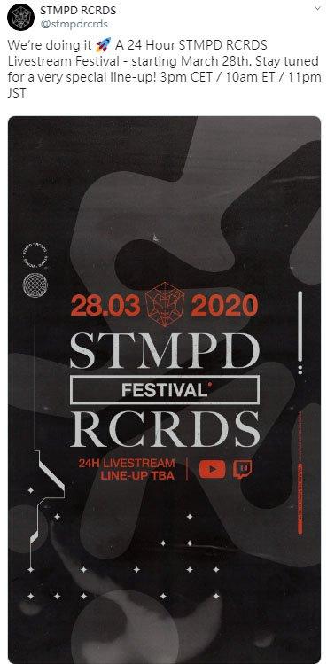 工作室 STMPD RCRDS 在 Twitter 宣布直播時間