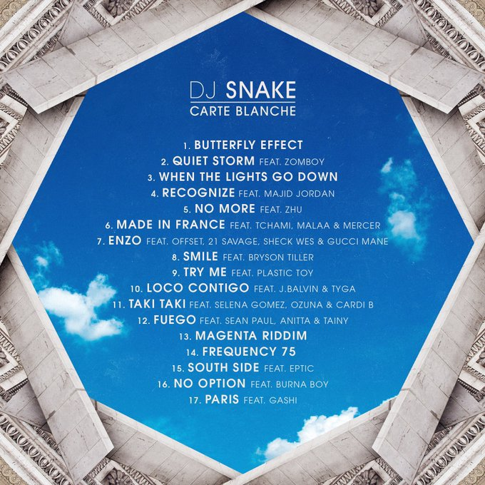 Tracklist for DJ Snake's Carte Blanche album