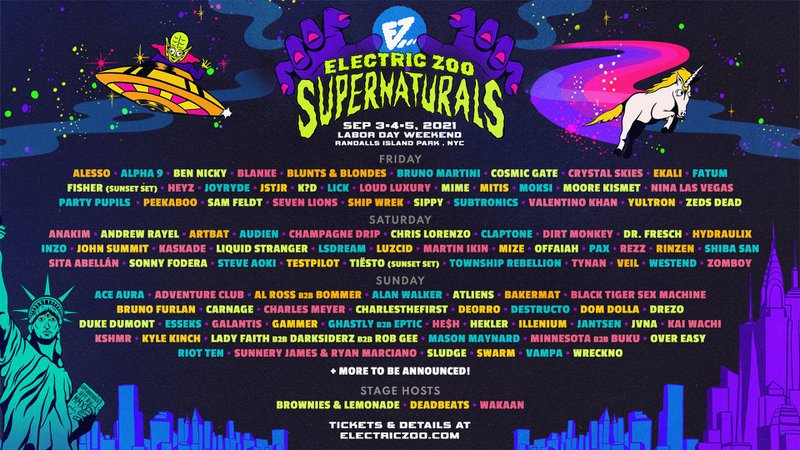Electric Zoo 2021 Lineup Poster