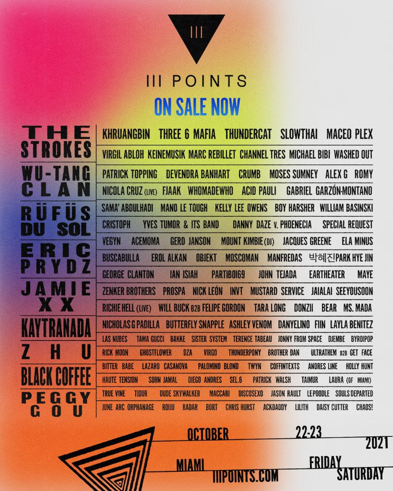 III Points Festival Lineup 2021