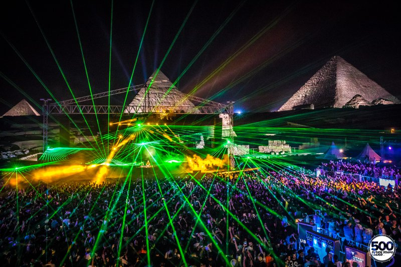 Aly & Fila Future Sound of Egypt 500 Episode Party and Pyramids of Giza