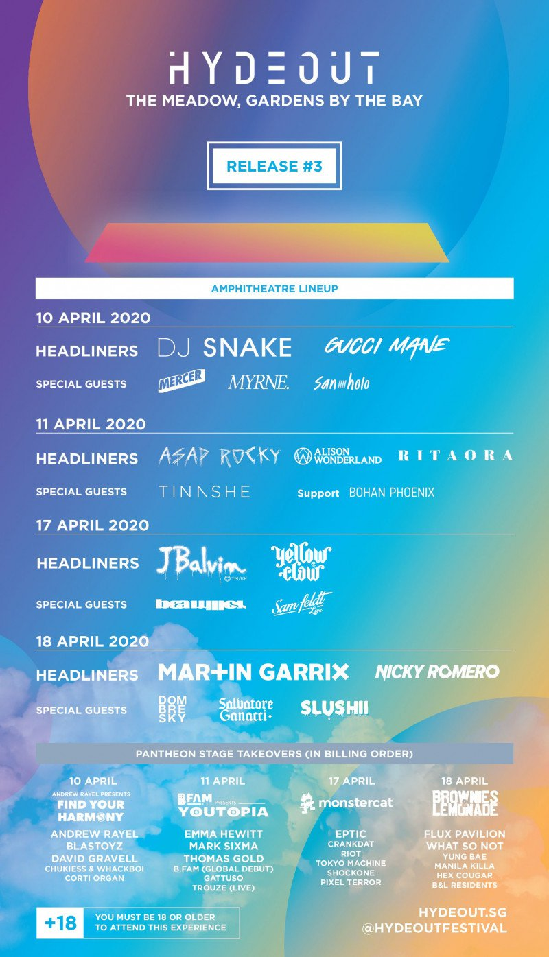 Hydeout Festival Singapore lineup 2020