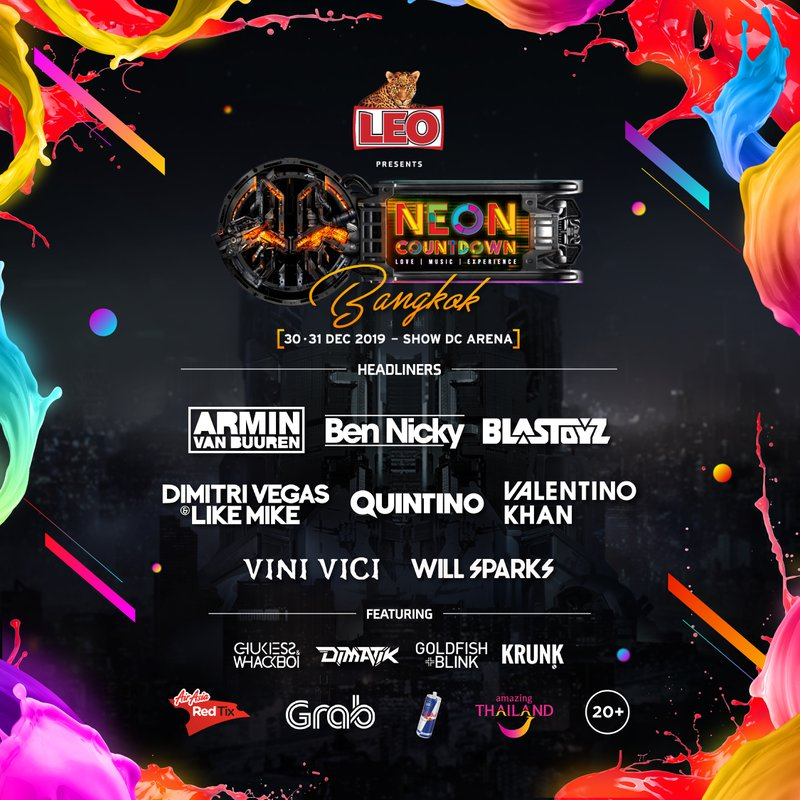 Neon Countdown Lineup 2019