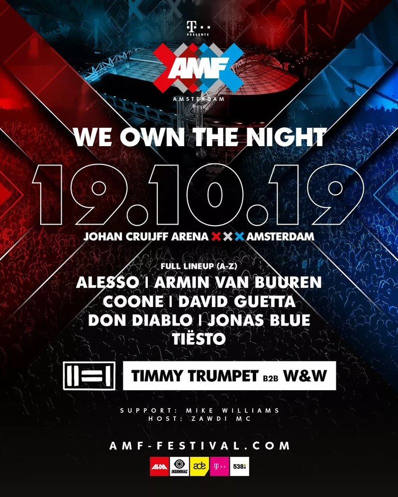 AMF Amsterdam Music Festival Lineup