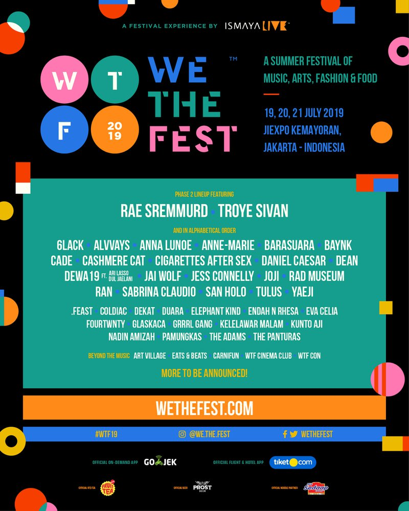 We The Fest lineup poster 2019