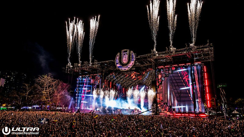 Ultra Muisc Festival Mainstage fireworks