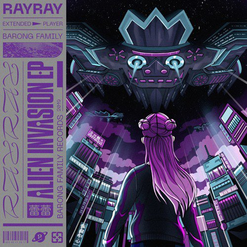 DJ RayRay Alien Invasion EP Artwork