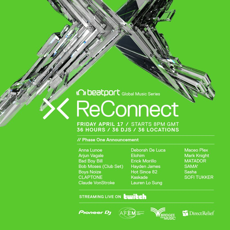 Beatport ReConnect lineup