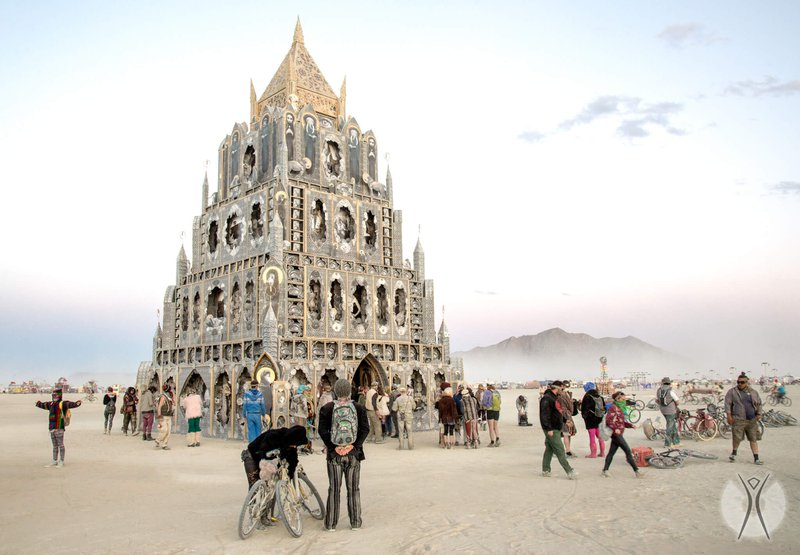 Temple at Burning Man festival, Nevada