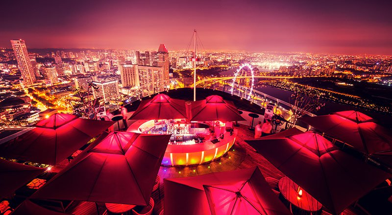 Ce La Vi rooftop bar in singapore