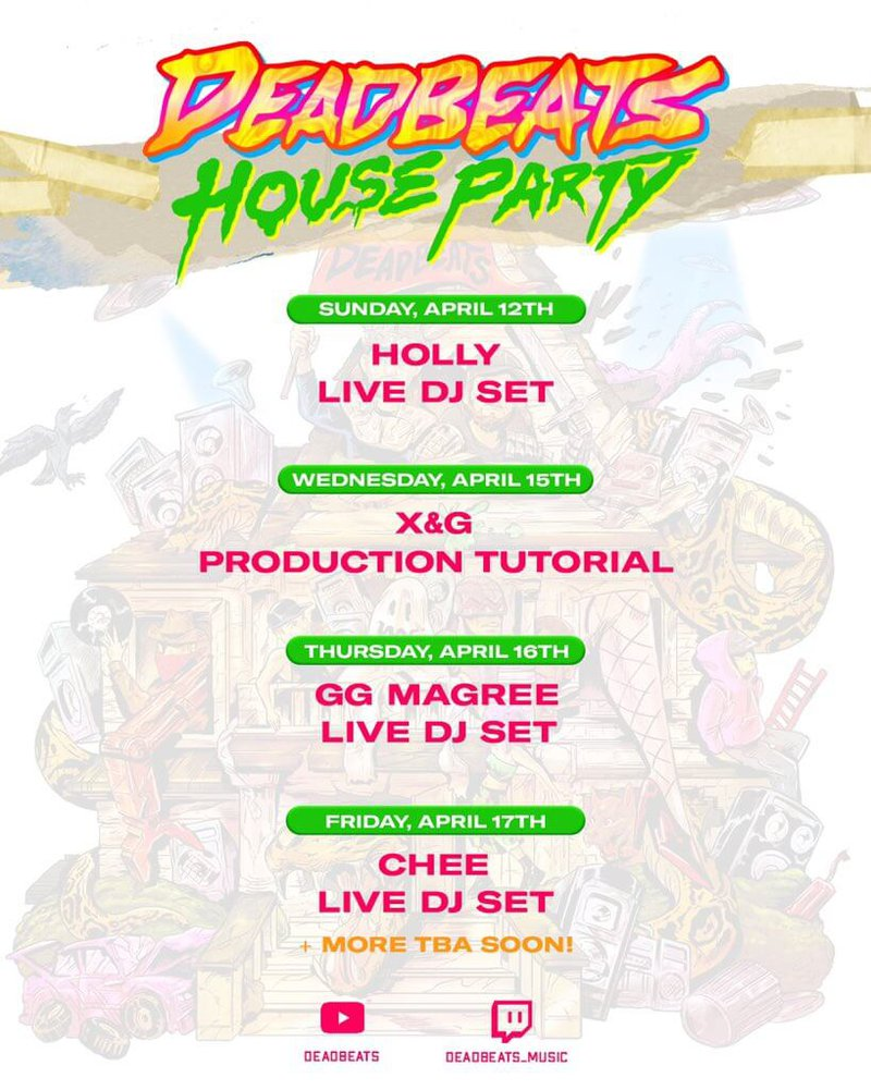 Deadbeats House Party schedule