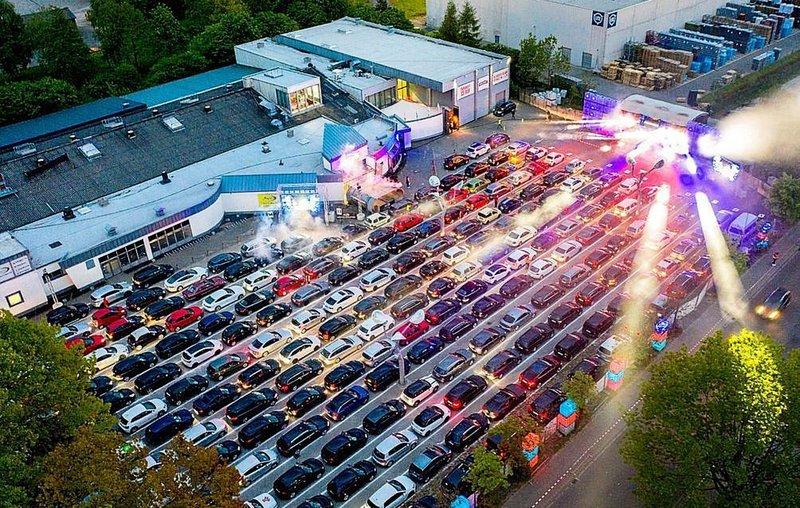 Drive-in rave in Germany