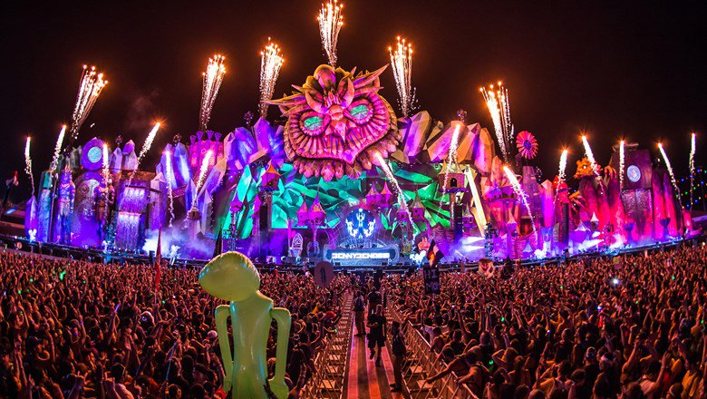 Electric Daisy Carnival mainstage and fireworks