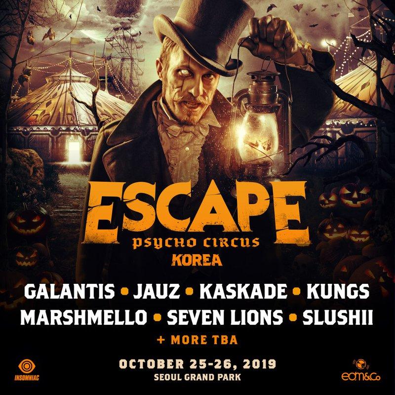 Escape Psycho Circus Korea 2019 Lineup