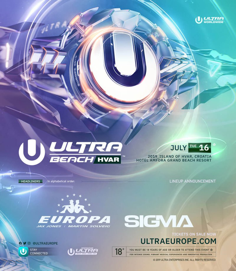 Ultra Beach Lineup 2019