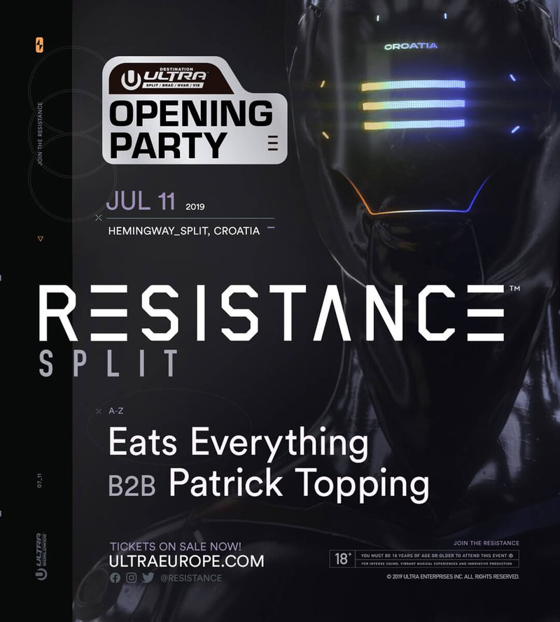 Lineup for Resistance Opening Party during Destination Ultra