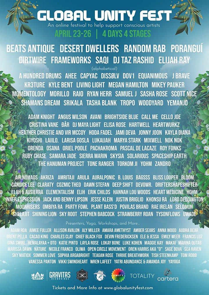 Global Unity Fest Lineup