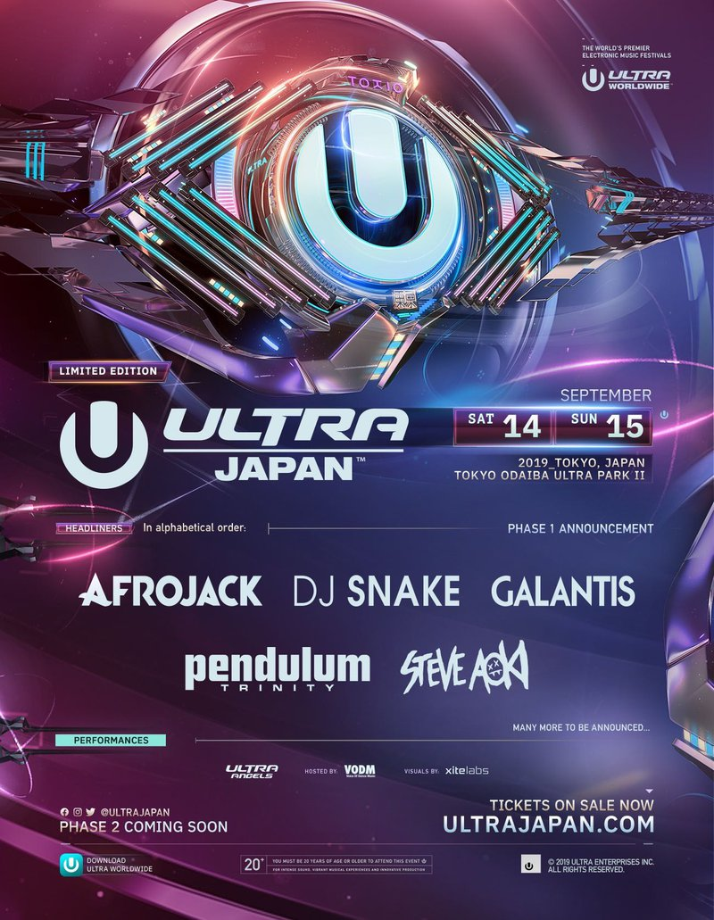Ultra Japan 2019 Lineup Phase 1