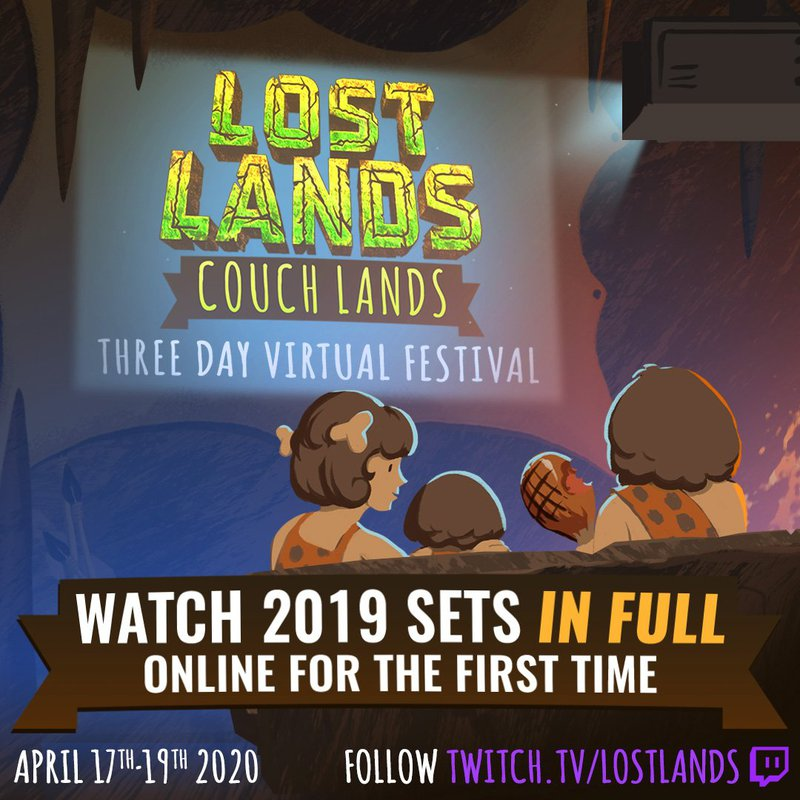 Lost Lands Couch Lands festival poster