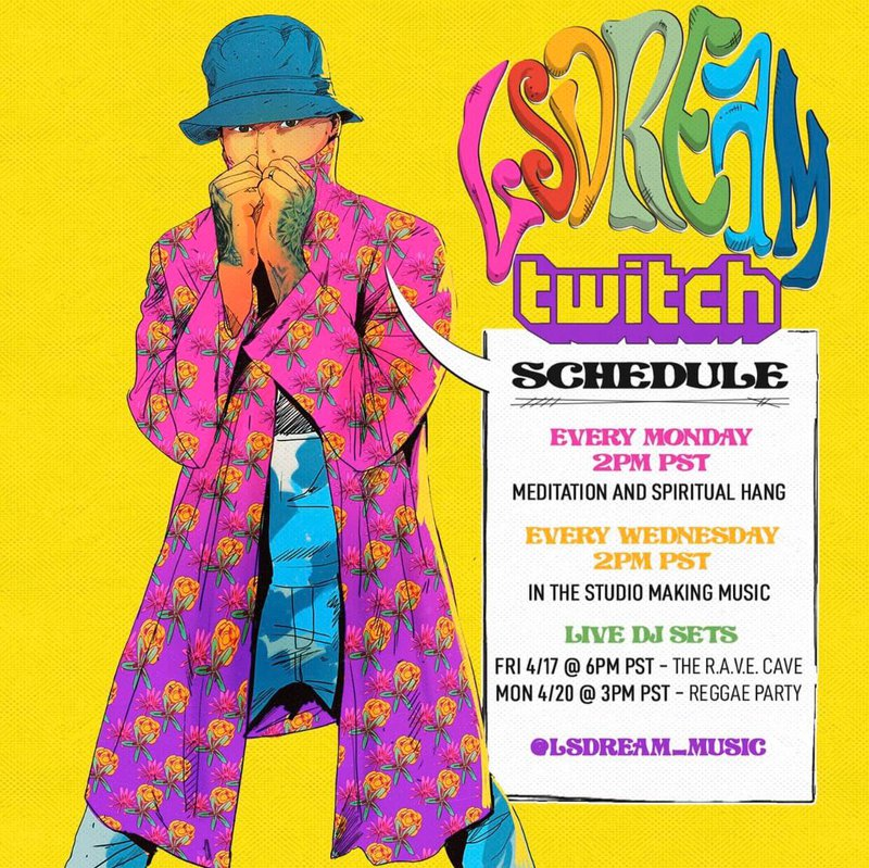 LSDream Twitch livestream schedule