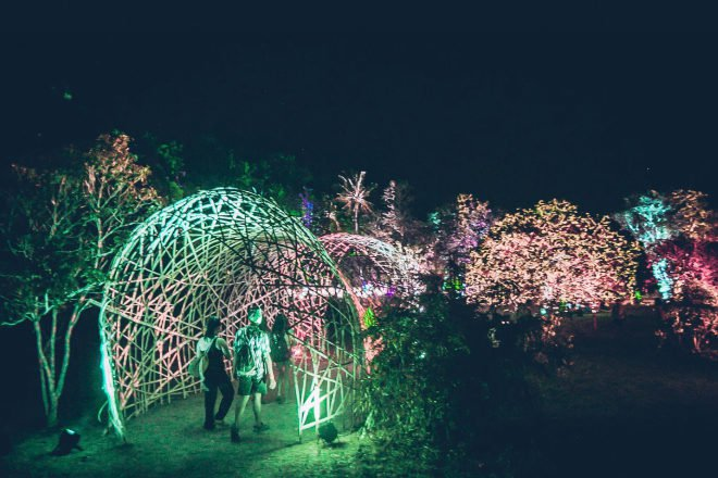 Light installations at Malasimbo music festival, Philippines
