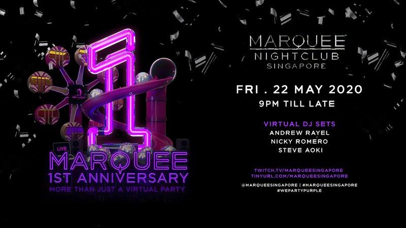 Marquee Singapore livestream poster