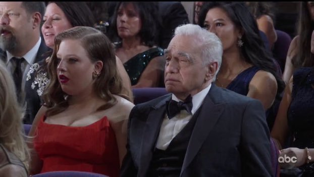 Martin Scorsese reacts to Eminem rapping at the Oscars