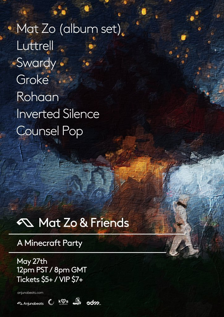 Mat Zo & Friends Minecraft Party lineup