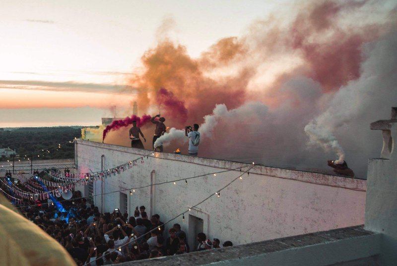 Flares at Polifonic festival, Italy