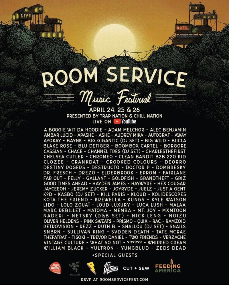 Room Service Music Festival lineup