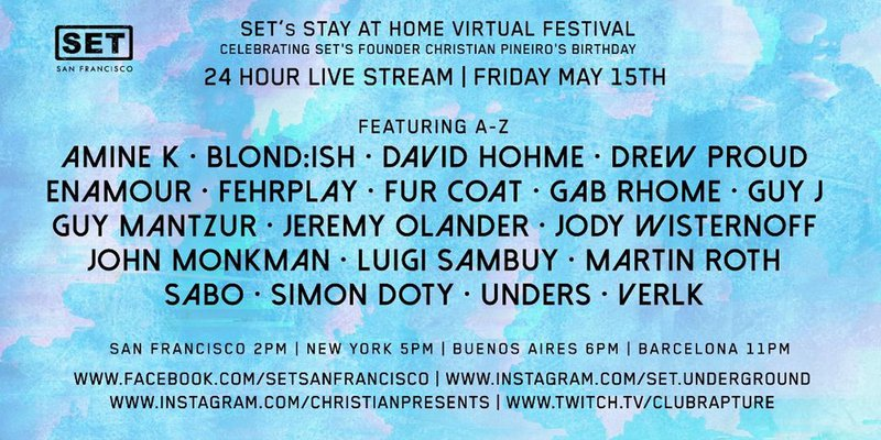 SET Stay At Home Virtual Festival Lineup