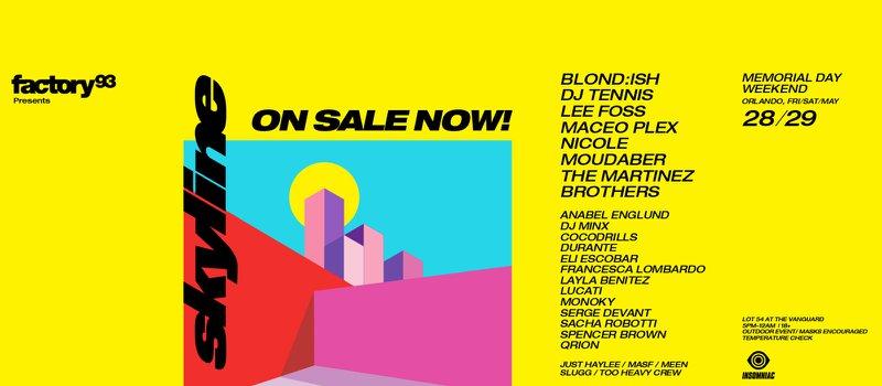 SKYLINE Festival lineup poster