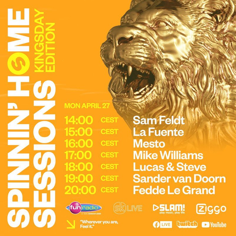 Spinnin' Home Sessions lineup