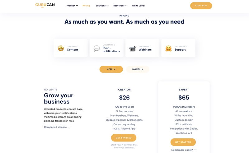 Gurucan pricing