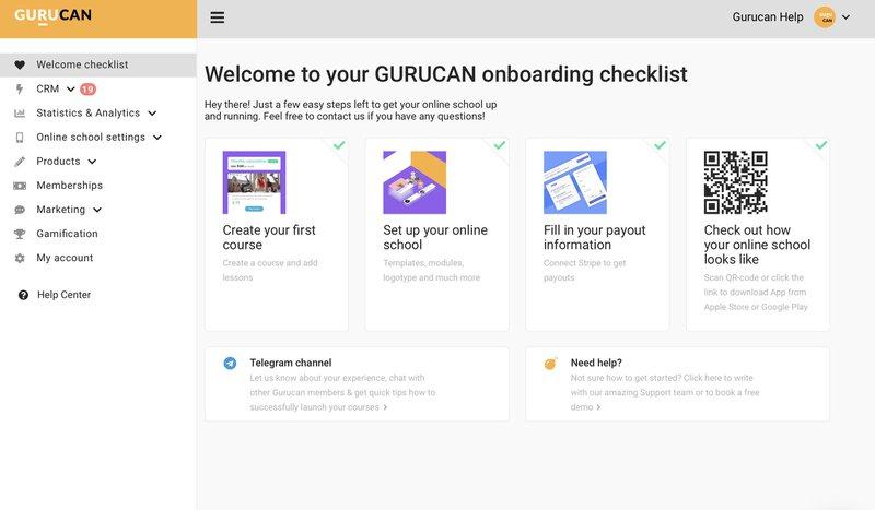 Online course checklist