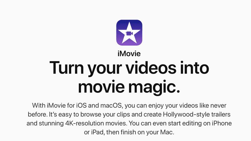 making videos iMovie