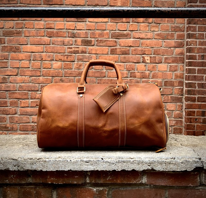 The Dagny Weekender | Large Leather Duffle Bag