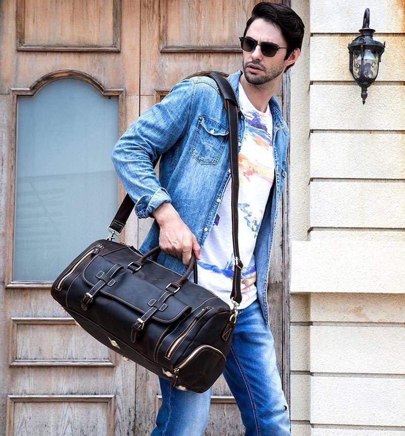 The Bard Weekender | Handmade Leather Duffle Bag