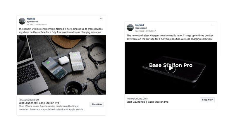split testing facebook ads