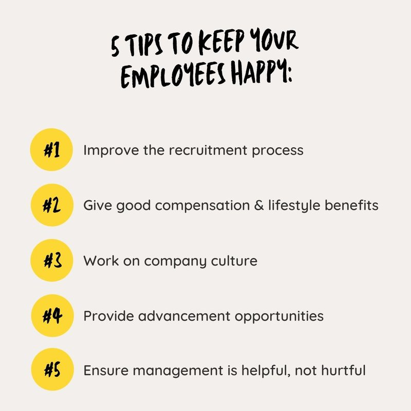 5 tips to increase employee retention