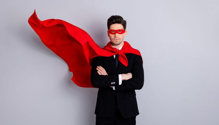 CEO branding superhero