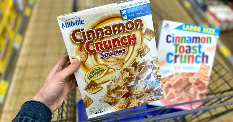 Generic brands cereal and brand-name cereal